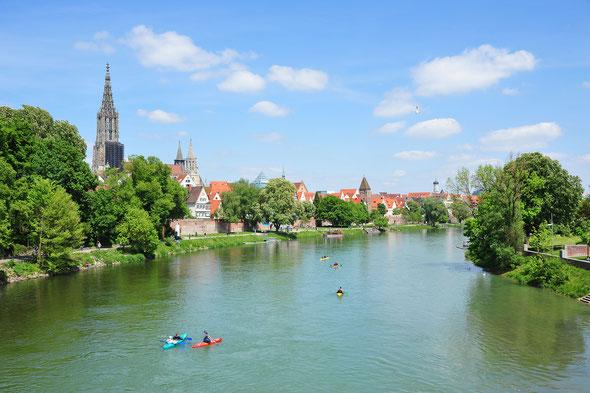 Die Donau in Ulm.