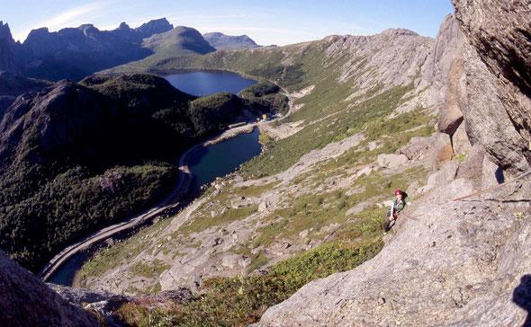 Lofoten, Nussfjord, Klettern
