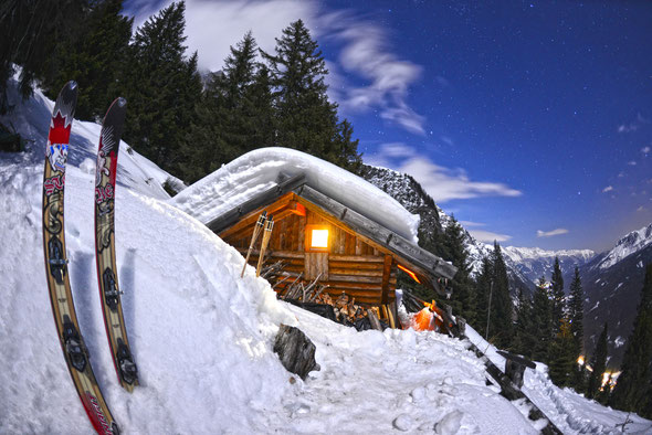 Abendstimmung an Matin's Hütte hoch über dem Pflerschtal.