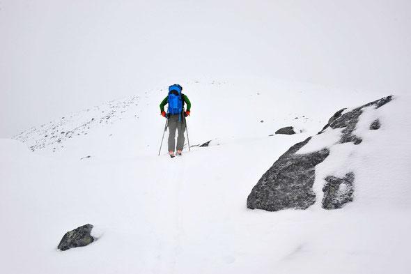 Eigentlich ist der Skolpan ein traumhafter Aussichtsberg - nur heute leider nicht!
