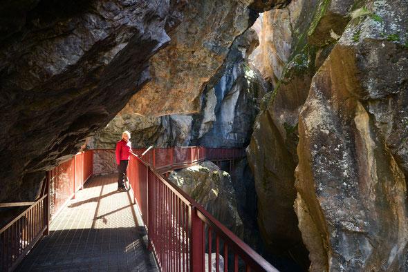 Unterwegs zu den Box Canyon Falls.