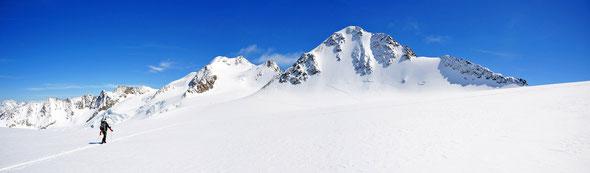An schönen Tagen nur am späten Nachmittag erträglich: der Modeberg Wildspitze.