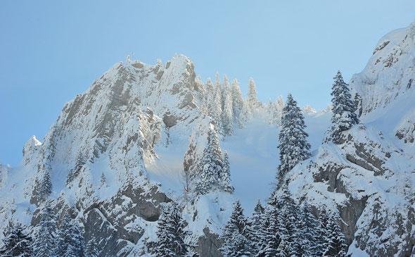 Mit so viel Schnee sieht sogar ein allgäuer Grashügel aus wie ein Berg!
