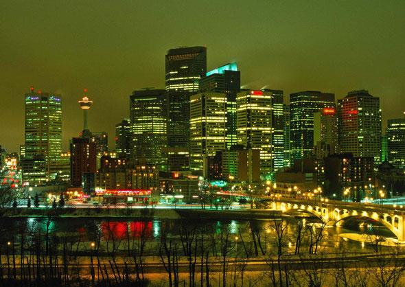 Winterliches Calgary. Alberta/Canada