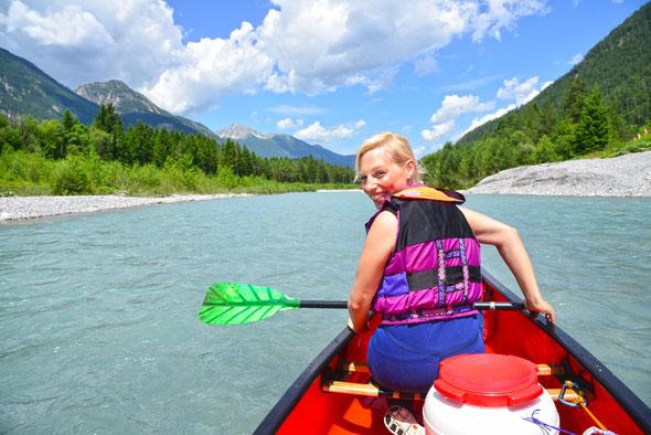 Der Lech bei perfektem Wasserstand und Traumwetter - was kann schöner sein!?