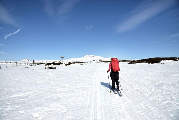 Unterwegs zum Skaget im Langsua-Nationalpark bei Traumwetter.
