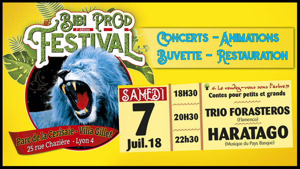 Bibi Prod Festival 7 Juillet 2018