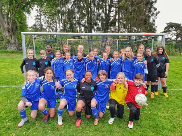 Regionalauswahl U12 nach dem Testspiel gegen die U14 vom JFV Ebsdorfergrund