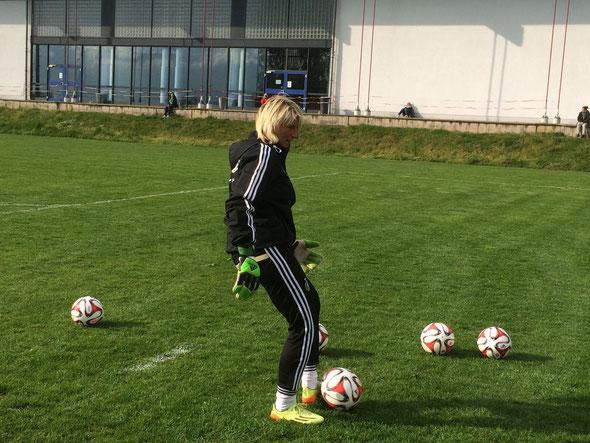 Foto Anke Koch - Silke Rottenberg - DFB-Torhüterinnentrainerin