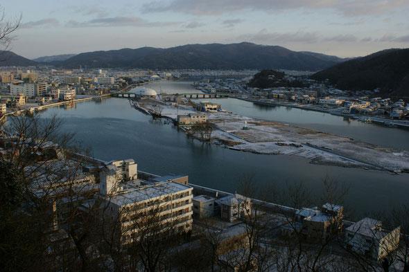 石巻市中瀬 日和山からの俯瞰 2011.12.17撮影(c)Noriko Shindo
