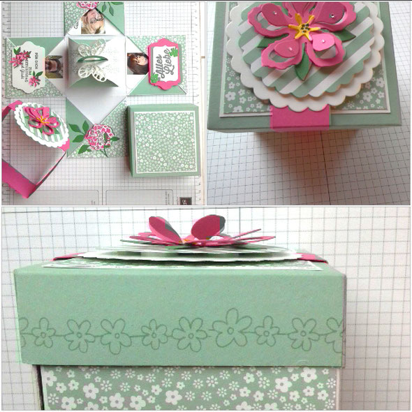 #Stampin` Up! #stempelliese.com #explosionsbox #minibox