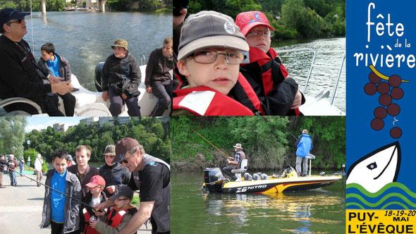 Sortie de l'Atelier Pêche Nature Fête de la rivière à Puy-l'Evêque le 19 05 2012 (Photos Daniel Lestrade)