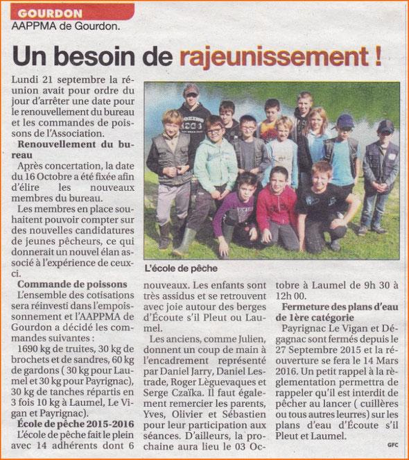 Le Petit Journal du Lot octobre 2015