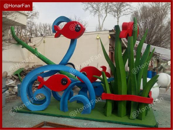 بهترین نمونه های المان نوروزی در تهران سازنده ساخت المان های شهری مجسمه سازی حیوانات