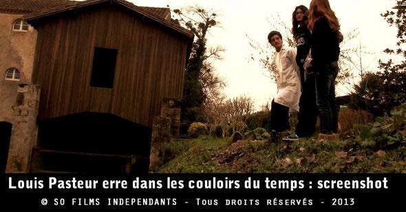 Des élèves présentent à Louis Pasteur l'ancienne centrale hydroélectrique de Plaisance où il pense y découvrir une dynamo...