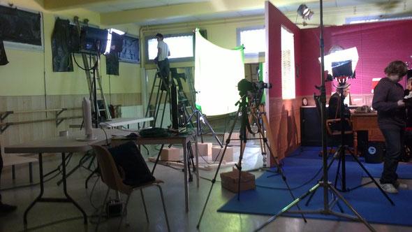 Le plateau de tournage