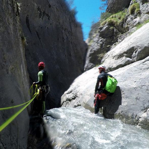 activité canyon alpes du sud