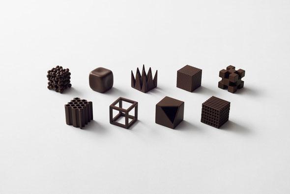 Nendo, Chocolat texture, à Maison & Objet en Janvier 2015