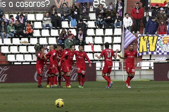 Víctor Casadesús volvió a marcar con el Mallorca, pero su tanto no sirvió de nada.