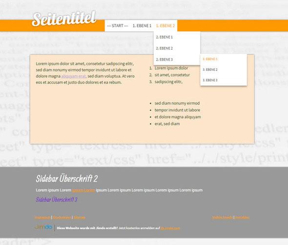 Jimdo Design Singapore Standard - Desktopansicht