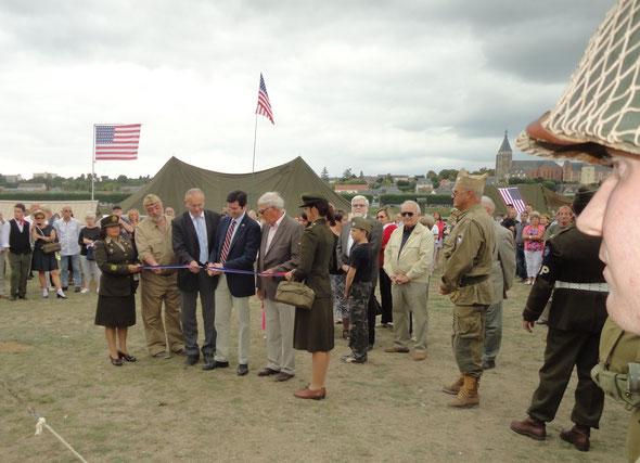 Inauguration officielle du camp militaire par M. Alexander SCHRANK.