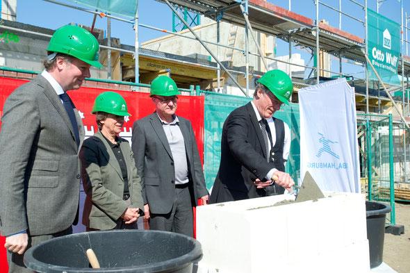 Grundsteinlegung am 28. März 2012 | Bildquelle: IBA Hamburg