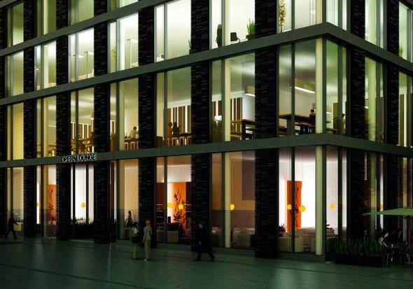 Lichtdurchflutet und transparent - das METROPOLIS Haus | Quelle: HOCHTIEF Projektentwicklung GmbH