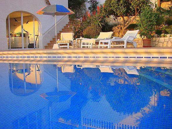 Ferienwohnung Valencia, Villa Gandia Hills, Meerwasser-Pool