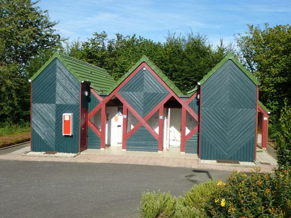 L'espace saniataire du camping municipal du Champ Passais de Domfront