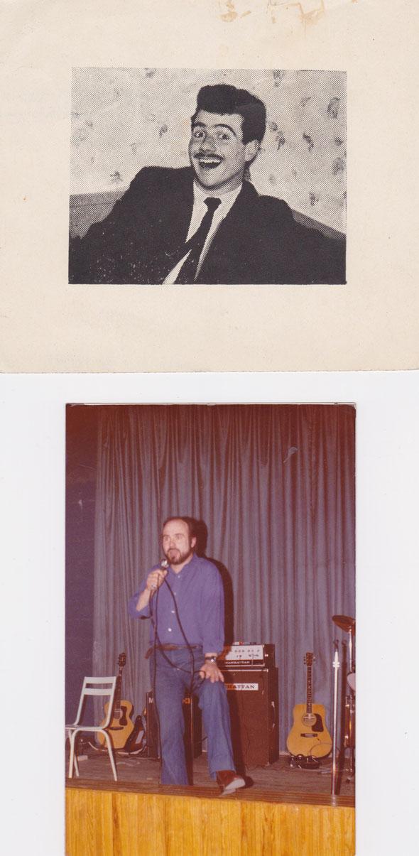 Jacques Faure dans les années 50 et en spectacle en 1977