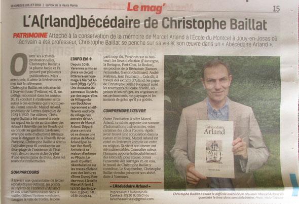 Article paru dans La Voix de la Haute-Marne le 6 juillet 2018