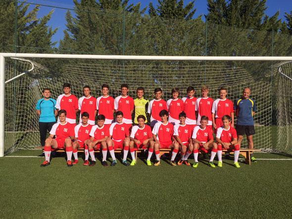 Integrantes del equipo Infantil de Fútbol 11