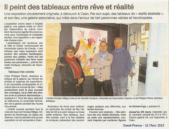 Ouest France du 11 mars 2015