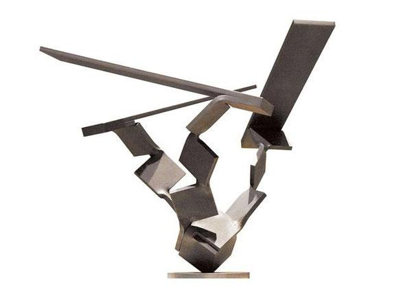 Metamorphosis  - dimension(次元)について<No.M - 32> / 2010 / H.70 x 70 x 70cm / 軟鋼            第9回「風の芸術展」トリエンナーレまくらざき [入選]