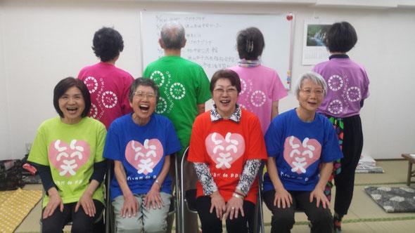 かしわっこ笑いヨガクラブTシャツ裏デザイン♡