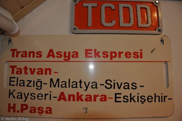 """TCDD - Schlafwagen """"TRANS ASIA EXPRESS"""" Istanbul - Tatvan - Istanbul (2007)"""
