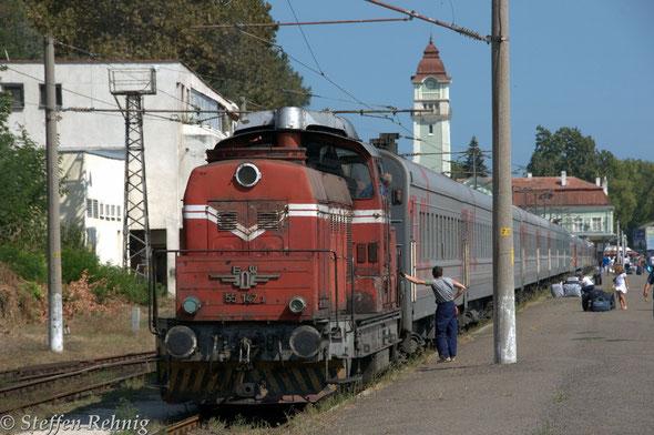 RZD WLB Weitstreckenwagen im Zug Moskva - Burgas in Burgas (8.9. 2012)