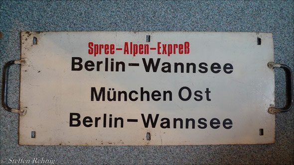 "DR - Autoreisezug D 1282 / 1283 ""SPREE-ALPEN-EXPRESS"" (ca.1990)"