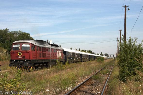 .... und die bulgarischen Wagenmeister untersuchen den Zug ....