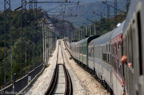"""G 1471 """"NESEBAR"""" vereinigt mit dem S 059M """"BULGARIA EXPRESS"""" auf der Fahrt nach Burgas"""