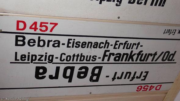DR - D 456 Leipzig-Frankfurt(Main) / D 457 Frankfurt(Main) - Frankfurt(Oder) Verstärkungswagen (1985)