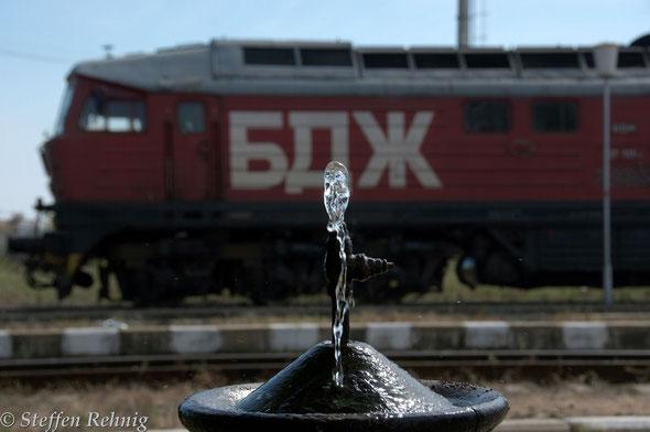 .... der Gratis Wasserspender ist von den Eisenbahnern, Grenzpersonal, Reisenden, Bahnhofshunden und anderen Tieren unter ständiger Benutzung ....