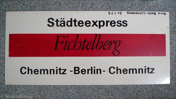 """DR - Städteexpress Ex 172/175 """"FICHTELBERG"""" (1990)"""