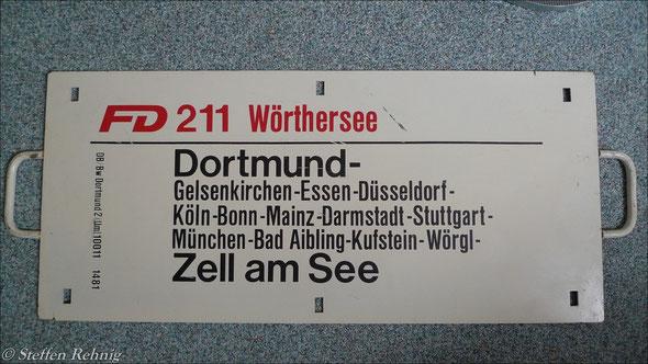 """DB - Fernschnellzug FD 211/210 """"WÖRTHERSEE"""""""