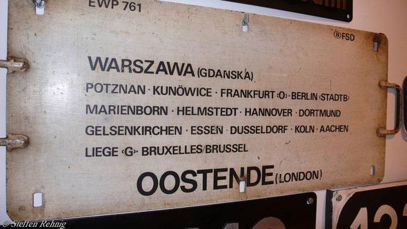 """B - Belgischer Kurswagen D 240/241 """"OST-WEST-EXPRESS"""" (ca.1970)"""