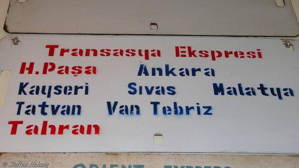 """TCDD - Schlafwagen """"TRANS ASIA EXPRESS"""" Istanbul - Van - Teheran, neue Version (2007)"""