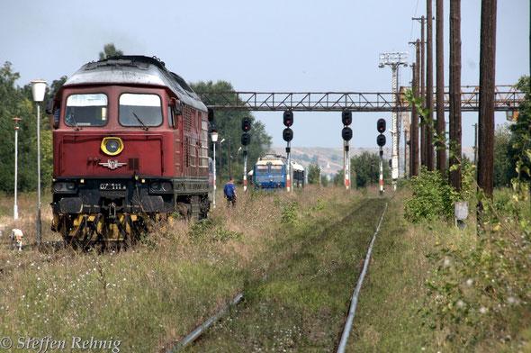 .... dann endlich .... pünktlich rollte der VSOE aus Bucuresti Nord über Videle in Giurgiu Nord ein ....