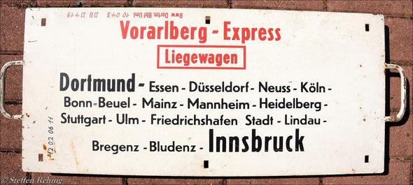 "DB - D 418/419 ""VORARLBERG EXPRESS"""