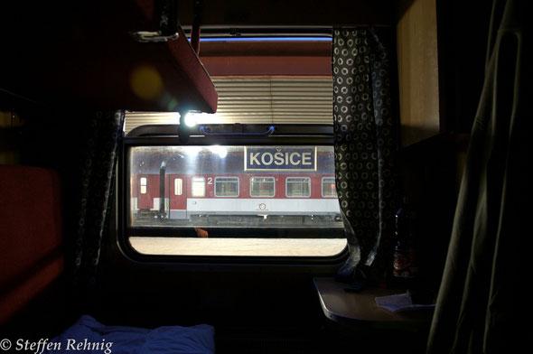 Im  Schlafwagen No.374 (WLAB 822) Košice - Cheb (13. März 2012)