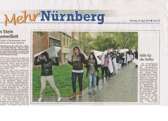 Hilfe für die Helfer, in: Nürnberger Nachrichten, 30.04.2013, S.25